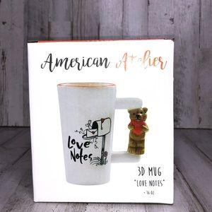 "American Atelier 3D ""Love Notes"" 16 oz Mug"